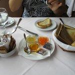 begin van het ontbijt