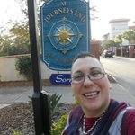 A dorky pic of me and the B & B signage.. LOL..