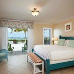 Waterfront king guest room at Parrot Key Resort