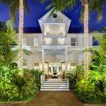 Parrot Key Resort reception area at night