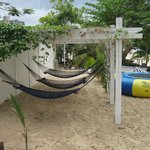 Hammock area on far side of beach