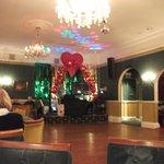 Ballroom set up for Valentines