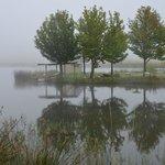 Lake on property