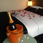 Room with champagne