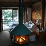 our cove-view room - fireplace and terrace