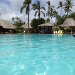 Pool and surrounding refreshment areas