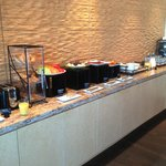 Breakfast offerings in Club lounge.