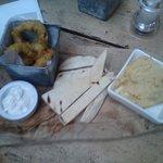 Calamari.  Hummus.