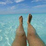 El color del mar, en playa Paraiso