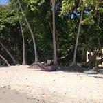 en la playa privada