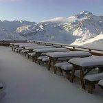 vue de la terrasse en début de saison