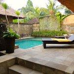 private pool of villa