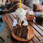 Carrott cake & carmelicious frappe... Yum.