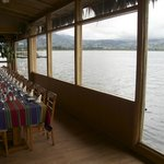 Indoor lake side dining