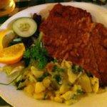 weiner schnitzel & German potato salad