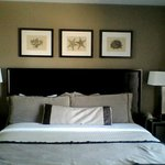King bed from the room.