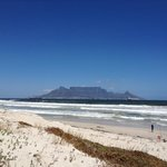 Table mountain from the Bloubergstrand beach