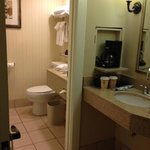 small bathroom but it was clean