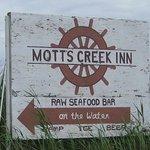 Sign near Motts Creek Inn.