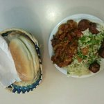 falafel with Humus, sauerkraut, shakshuka and salad
