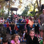 huge childrens boat ride carnival on the dock
