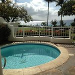 Private Plunge Pool and Lanai View from Villa 7.