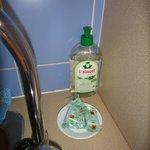 cuisine : produit vaisselle et dosettes lave-vaisselles fournies