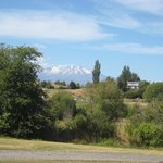 Mt Ruapehu from our cabin
