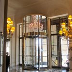 revolving door at entrance