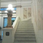 Historic marble staircase in the Hotel Monaco.