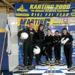 On the podium- post Go Karting!