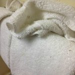 Dirt or something on the towels