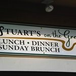 Our Stuarts on the Green sign and logo