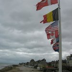 International flags at D Day beaches