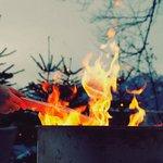 Das wärmende Feuer auf unserer Terrasse