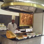 Best pasta station! Excellent cook!