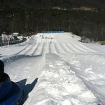 View from the top of the tubing hill
