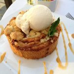 Apple Crumb Tart with Vanilla Bean Ice Cream