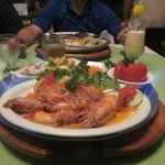 flaming jumbo shrimp