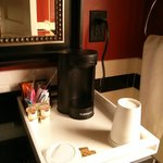 Coffeemaker in the bathroom