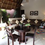 dining and lounge area in 1 bed villa