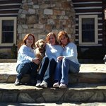 Sisters Enjoy the Lodge with Innkeeper's Dog, Lakota