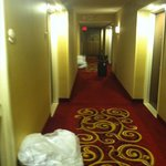 Dirty laundry still in the hallway at 8pm on the concierge level