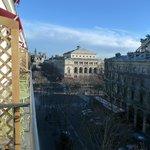 Vue de notre petit balcon, minuscule et charmant