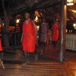 the Masai performing during dinner