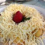 Banana and cheese Poffertjes - Yummo!