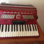 Red accordion - one of the antique pieces