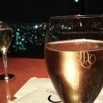 free glass of sparkling wine