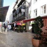The street is full of restaurants.