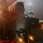 View of Petronas Towers from the hotel driveway